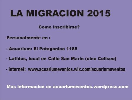 la migra 2015 inscripciones